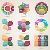 Grafische Informationselemente — Stockvektor