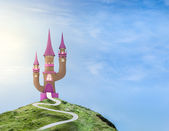 Ilustration of a fairytale castle — Stock Photo