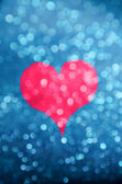 Heart Bokeh magenta silohuette — Stock Photo