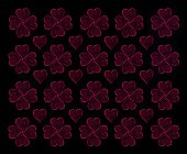 Heart Bokeh pattern — Stock Photo