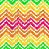 Colorful ikat middle east traditional silk fabric chevron zig zag seamless pattern on white, vector — Stock Vector