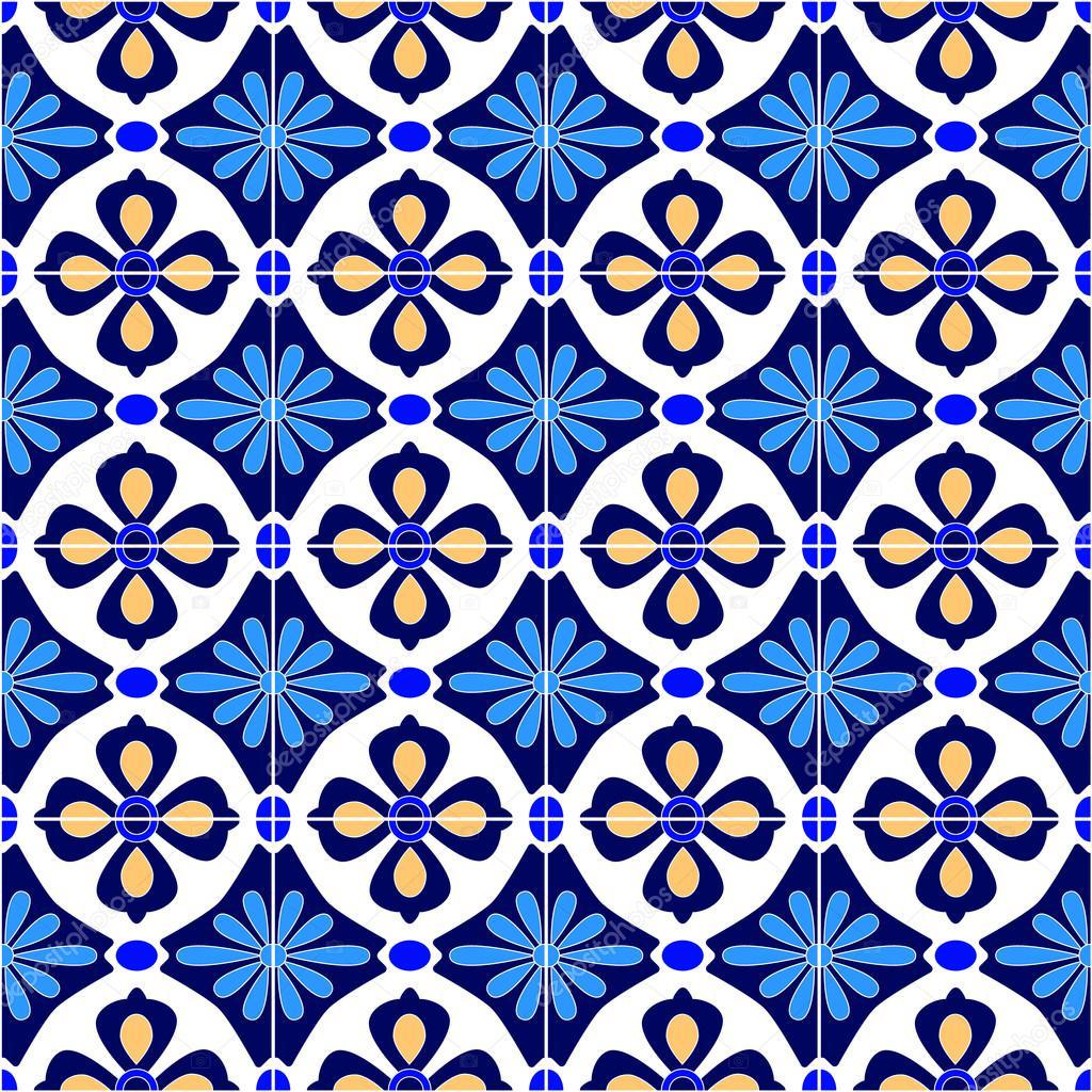 Mexicano estilizado talavera azulejos patr n sin costuras - Azulejos con dibujos ...