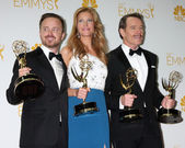 Aaron Paul, Anna Gunn, Bryan Cranston — Stock Photo