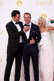 Jimmy Fallon, Derek Hough, Julianne Hough — Stock Photo