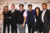 Katharine McPhee, Robert Patrick, Ari Stidham. Elyes Gabel, Jadyn Wong, Eddie Kaye Thomas — Stock Photo