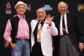 Norman Lear, Carl Reiner, Max Brooks — Stock Photo