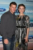 David Boreanaz, Emily Deschanel — Foto de Stock
