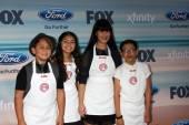Masterchef Jr Contestants:  Sam, Berry, Natalie, Sean — Foto de Stock