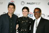 Ken Marino, Casey Wilson, Tim Meadows — Stock Photo