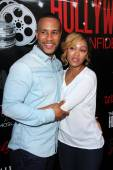 DeVon Franklin, Meagan Good — Foto Stock
