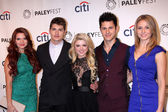 Katie Stevens, Gregg Sulkin, Bailey De Young, Michael J. Willett, Rita Volk — Stock Photo