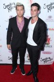 Lance bass, michael turchin — Foto Stock