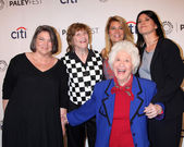 Mindy Cohn, Geri Jewell, Lisa Whelchel, Charlotte Rae, Nancy McKeon — Stock Photo