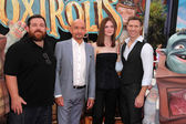 Nick Frost, Sir Ben Kingsley, Elle Fanning, Travis Knight — Stock Photo
