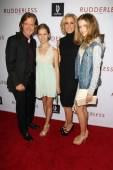 William H. Macy, Felicity Huffman, Sofia Macy, Georgia Grace Macy — Stock Photo
