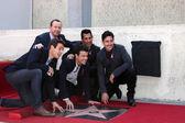 New Kids On The Block, Jordan Knight, Donnie Wahlberg, Joe McIntyre, Danny Wood, Jonathan Knight — Stock Photo