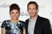 Tiffani Thiessen, Luke Perry — Stock Photo