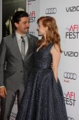 Oscar Isaac, Jessica Chastain — Foto Stock