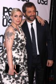 Lena Dunham, Judd Apatow — Stock Photo