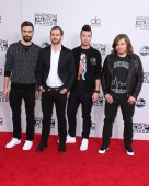 Kyle Simmons, William Farquarson, Dan Smith, Chris 'Woody' Wood, Bastille — Stock Photo
