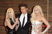 Donatella Versace, Nolan Gerard Funk, Lady Gaga — Stock Photo