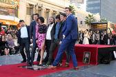 Andy Serkis, Richard Armitage, Evangeline Lilly, Sir Peter Jackson, Orlando Bloom, Elijah Wood, Lee Pace — Stock Photo