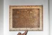 Bradley P. Bell Stage Plaque — Stock Photo