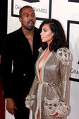 Kanye West, Kim Kardashian West — Stock Photo
