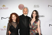 Rick Baker, wife, daughter — Stock Photo
