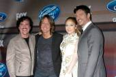 Scott Borchetta, Keith Urban, Jennifer Lopez, Harry Connick Jr. — Stock Photo