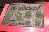 Vin Diesel Hand and Foot Prints — Stock Photo