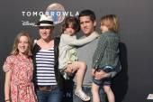 Molly Ringwald, family — Stock Photo