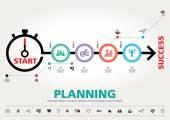 Time for Success, template modern info graphic design — Stockvektor