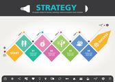 4 Steps to success template modern info graphic design — Stock vektor