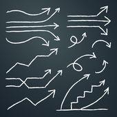 VECTOR Hand Drawn arrows for info graphic design — Stock vektor