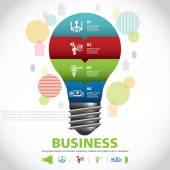 BULB ICON WITH IDEA CONCEPT. INFO GRAPHIC for business — Stock vektor