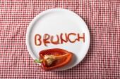 Brunch pepper shape on plate — Stock Photo