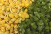 Close up organic corn and pepper — Stockfoto