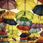 Colorful umbrella street decoration. — Stock Photo #68257053