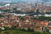 Panorama of Prague from Petrin Lookout Tower — Stock Photo