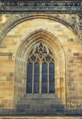 Detaljer för fönster st vitus cathedral prag. — Stockfoto