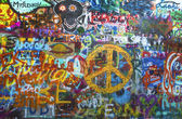 The Lennon wall in Prague — Stock Photo