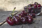 Sweet cherry on table, organic food. — Stock Photo