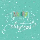 Colorful lettering Christmas greeting card — Stok Vektör