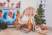 Fir tree with rocking chair — Photo