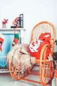 Santa holiday sac — Stock Photo