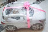 Luxusní nové bílé auto — Stock fotografie