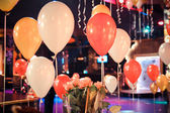 Air holiday balloons — Stock Photo