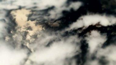 Lasso di tempo di nuvole scure — Video Stock