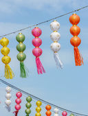 Thai festival decoration with lantern, thailand. — Stock Photo
